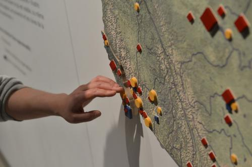 Tactile Residential Schools Map