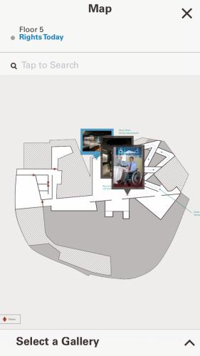 CMHR mobile app's interactive floor maps.