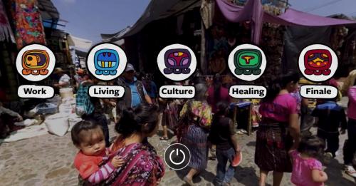 screenshot of the VR menu