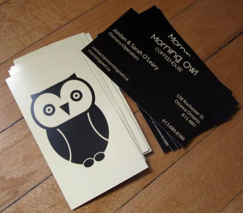 Morning Owl Business Cards