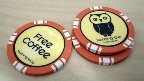 Morning Owl Coffeehouse Poker Chips