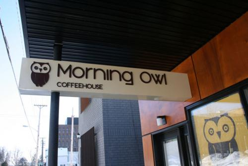 Morning Owl Coffeehouse Rochester St. Sign